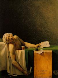 La Mort de Marat. Jacques-Louis David. Óleo sobre lienzo. 1793.